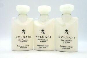 Lot/3 Bvlgari Eau Parfumee au The blanc Body Lotion ~  1.3 oz x 3