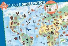 DJECO PUZZLE ANIMALI NEL MONDO OBSERVATION 100 pezzi a partire da 5 anni DJ07420