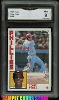 1984 Topps #385 Tony Perez Graded GMA 9 MINT ~Philadelphia Phillies Vintage Card