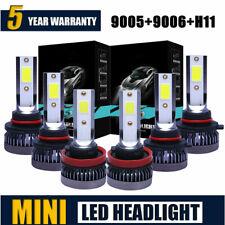 9005 9006 H11 Combo COB LED Headlight Fog Kits Bulb 6000K White High Low Beam