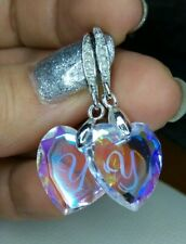 Christmas gift heart aurore earrings with Swarovski crystal elements New