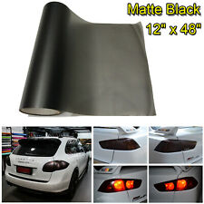 "Matte Black Car SUV Taillight Fog Light Tint Vinyl Film Wrap Sheet - 12""x 48"""