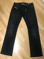 NWD Mens Diesel ZATINY STRETCH Denim RA468 BLACK BOOTCUT W32 L32 H9 RRP£150