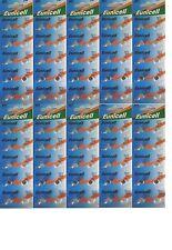 EUNCELL Lot de 100 Piles bouton AG1 LR621 164 364 531 1,5V alcaline