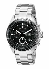 Fossil Decker Black Dial Stainless Steel Chronograph Quartz Mens Watch CH2600