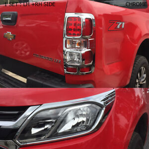 Fits Chevrolet Holden Colorado Z71 2017 Chrome Head Rear Lamps Light Lh Rh Cover