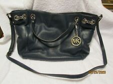 Michael Kors Blue Leather purse in EUC!