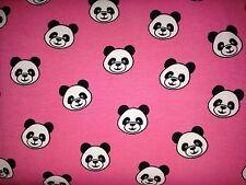 25 cm Jersey Pandabär Bär Bear Rosa Pink Kinderstoff
