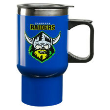 Canberra Raiders NRL Steel Thermal Insulated Travel Coffee Mug with HANDLE Gift