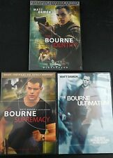 Bourne Identity, Supremacy and Ultimatum (DVD 3-Discs) WS Trilogy Like New!