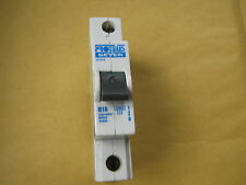 PROTEUS GEYER 1016/2 B16 16 AMP 10KA SINGLE POLE MCB CIRCUIT BREAKER.