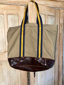 Ralph Lauren Rugby Leather & Canvas Bag RARE