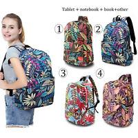 Fashion Women Girl Student Maple Leaf Backpack Travel Handbag Shoulder Bag Gift
