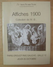 CATALOGUE DE VENTE AFFICHES 1900 PARIS DROUOT RIVE GAUCHE 25 OCTOBRE 1979