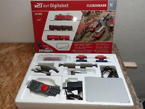 Fleischmann Digitalstartset Z21 Güterzug mit BR 185