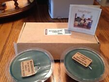 Longaberger Desert Bowl Candles - Herbal Garden - Set Of 2 - New In Box