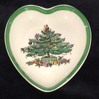 "Spode England CHRISTMAS GARLAND TREE * 4 1/4"" HEART DISH* 53324-M*"