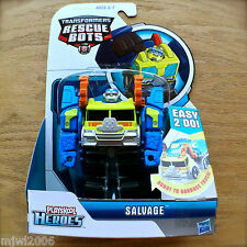 Transformers RESCUE BOTS SALVAGE The Garbage Truck PLAYSKOOL HEROES Hasbro NEW!