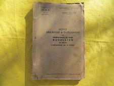 Génératrices de bord DUCELLIER 24 volts - notice - 1939