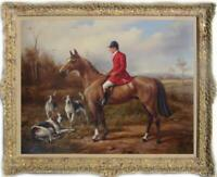 "Hand-painted Old Master-Art Antique Oil Painting hunt dog on canvas 30""X40"""