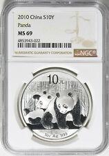 China 2010 10 Yuan Silver Panda NGC MS-69