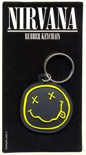 Nirvana Smiley Rubber Keychain Official Carded