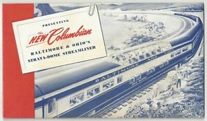 1949 Baltimore & Ohio Railroad Strata-Dome Streamliner Brochure, New Columbian