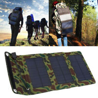 Foldable Solar Panel Battery Charger Power Bank USB Port Emergency For Travel