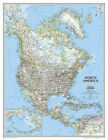 North America Classic, Enlarged &, Tubed: Wall Maps Continents