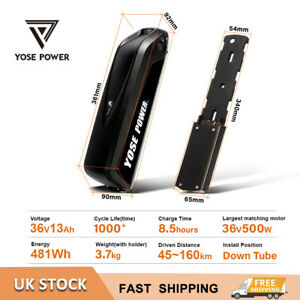 36V13Ah Electric Bike Ebike Lithium-ion(Li-Ion)HaiLong Battery with 2A Charger