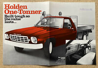 1974/1975 Holden One-Tonner original Australian sales brochure (Stamp/Writing)
