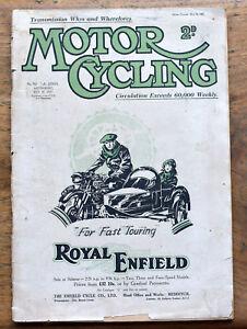 OLD  Magazine Motor Cycling May 18th 1927