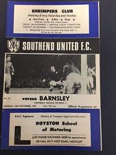 13/11/1967 Southend United v Barnsley, Division 4