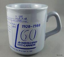 Coffee Mug DeHavilland Aircraft Gypsy Moth Bi Plane 1988 Flying 60th Anniv 8oz