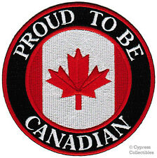 PROUD TO BE CANADIAN embroidered iron-on PATCH CANADA FLAG EMBLEM