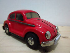 VW Volkswagen Bug Beetle TIN TOY CAR RED CHINA FRICTION POWERED