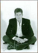 """Charlie Sheen, Two And A Half Men Actor, Signed 5"""" x 7"""" Photo (Preprint)"""