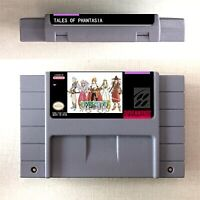 Tales of Phantasia Game Card Console US Version For Nintendo SNES 16 Bit Eng