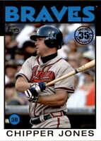 2021 Topps 1986 Topps Baseball 35th Anniversary #86B-64 Chipper Jones NM-MT