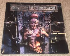 IRON MAIDEN SIGNED THE X FACTOR VINYL w/PROOF BLAZE BAYLEY NICKO DAVE & JANICK