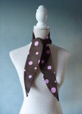 Brown spotted Hair Scarf, Polka Dot Headband, brown spotted hair pin up/wrap