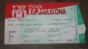 rare Ticket )) FC BARCELONA V MARSEILLE OM / XXVI Trofeu Joan Camper 1991