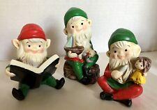 Set of Three Adorable Homco Elves