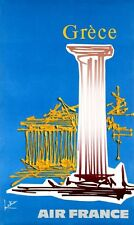 1971 Grecia Grece AIR FRANCE-rare vintage TRAVEL poster-Affiche Aeronautique