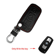 Leather Cover Case For BMW Remote Smart Key 3 Buttons 3 5 Series 328i X5 Holder