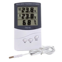 TA318 Indoor Outdoor Office Digital LCD Thermometer Hygrometer Humidity Meter