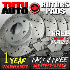 C0835 FIT 2009 2010 Acura TSX Cross Drilled Brake Rotors Ceramic Pads F+R