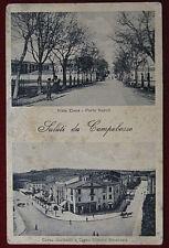 CAMPOBASSO Saluti  Viale Elena Corso Garibaldi viaggiata animata 1927 f/p #581