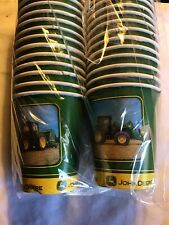 John Deere 2005 Tractor Paper Drink Cup Birthday Express Party Supplies 32ct