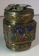 "Chinese Brass TOBACCO SNUFF BOX 3.5"" Butterfly China (I17)"